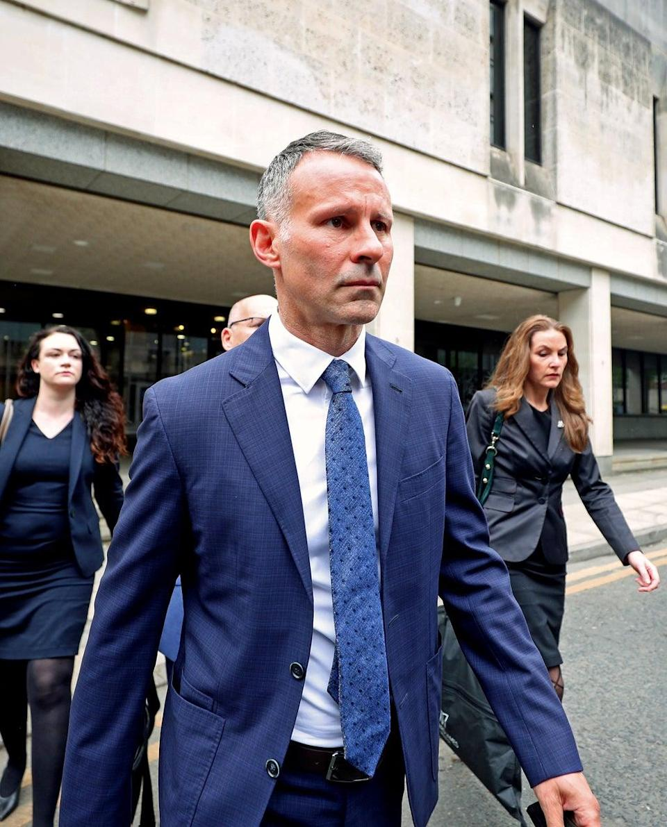 Former Manchester United footballer Ryan Giggs leaves Manchester Crown Court (Peter Byrne/PA) (PA Wire)