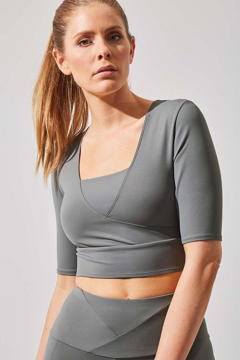Define Recycled Polyester Half Sleeve Crop Top. Image via MPG Sport.