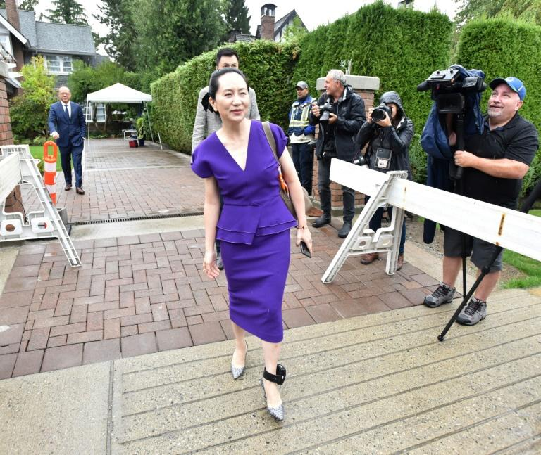 Huawei Chief Financial Officer Meng Wanzhou leaves her Vancouver home to appear in the British Columbia Supreme Court on September 23, 2019