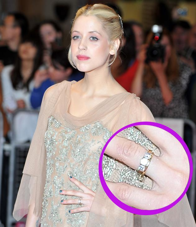 Peaches Geldof engagement ring: When she's not making headlines for her recent weight loss, Peaches is catching the paparazzi's flash with some statement bling – her engagement ring says it all – she's one love-up lady!