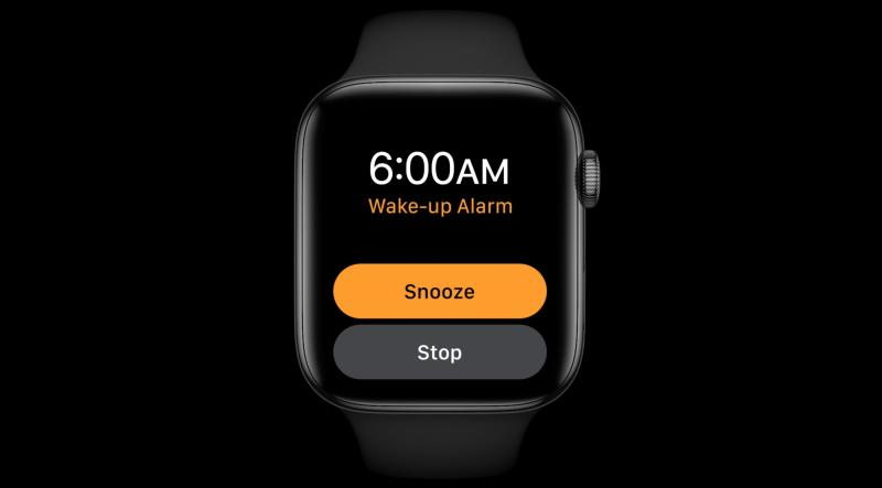 Wake up alarm Apple Watch