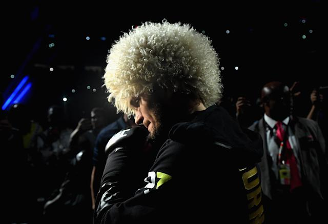 Khabib called for an MMA culture change after UFC 229 while talking about his congratulatory call from Vladamir Putin. (Getty)