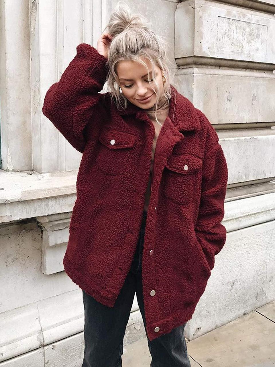 """<p>They'll always stay warm when they are in this <a href=""""https://www.popsugar.com/buy/Ecowish-Fuzzy-Fleece-Coat-484627?p_name=Ecowish%20Fuzzy%20Fleece%20Coat&retailer=amazon.com&pid=484627&price=32&evar1=savvy%3Aus&evar9=25897406&evar98=https%3A%2F%2Fwww.popsugar.com%2Fsmart-living%2Fphoto-gallery%2F25897406%2Fimage%2F46694737%2FEcowish-Fuzzy-Fleece-Coat&list1=gifts%2Choliday%2Cage%2Cgift%20guide%2Cmillennials%2Choliday%20living%2Cgifts%20for%20women%2Cgifts%20under%20%2450&prop13=mobile&pdata=1"""" rel=""""nofollow noopener"""" class=""""link rapid-noclick-resp"""" target=""""_blank"""" data-ylk=""""slk:Ecowish Fuzzy Fleece Coat"""">Ecowish Fuzzy Fleece Coat </a> ($32).</p>"""