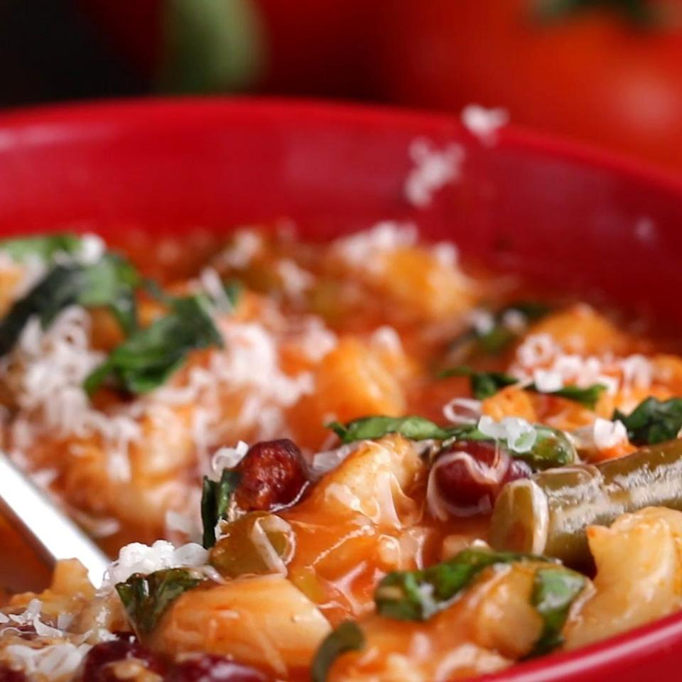 Minestrone Soup From Leftover Sauce