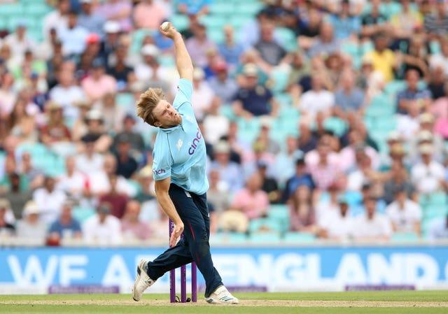 David Willey in action