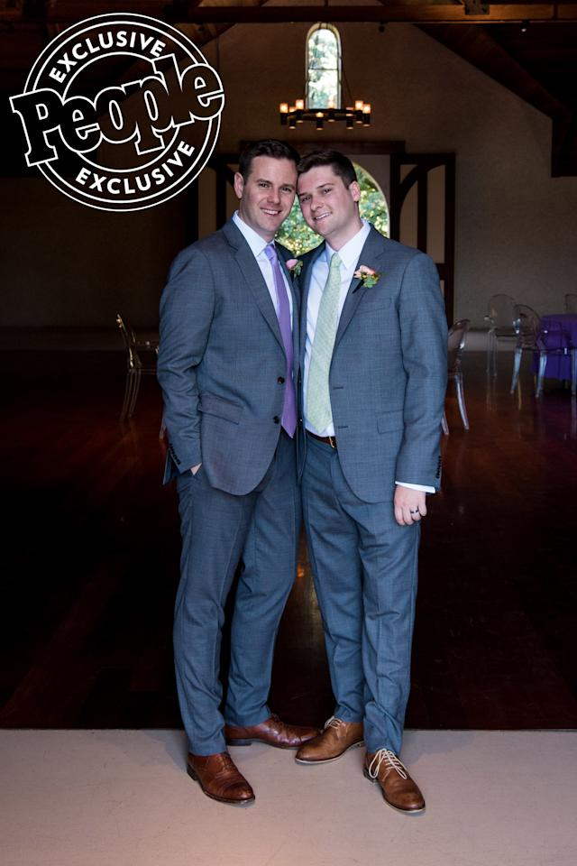 """Fox News commentator Guy Benson married his boyfriend of nearly four years, Adam Wise, in a romantic ceremony at the Charles Krug Winery in Napa Valley, California on Saturday. """"It became clear pretty early on that it just, that things clicked,"""" Benson, who is the host of Fox News Radio's <em>The Guy Benson Show</em> and a Fox News Contributor, told PEOPLE prior to the wedding."""