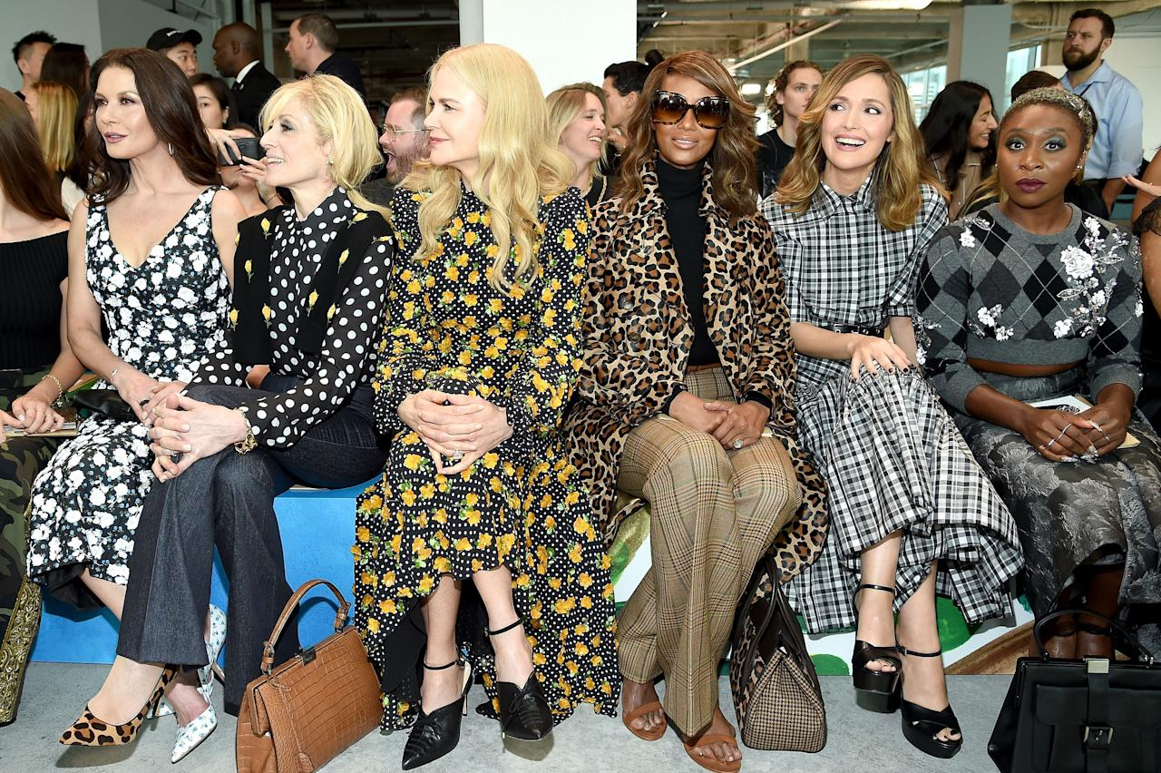 <p>It would be New York Fashion Week without some celebrity sightings from the front row. Click through to see who's wearing what at the shows. </p>
