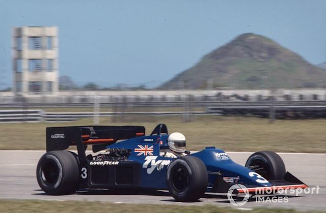 """Martin Brundle, Tyrrell 012 Ford <span class=""""copyright"""">LAT Images</span>"""