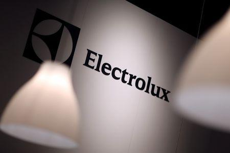 The Electrolux logo is seen during the IFA Electronics show in Berlin