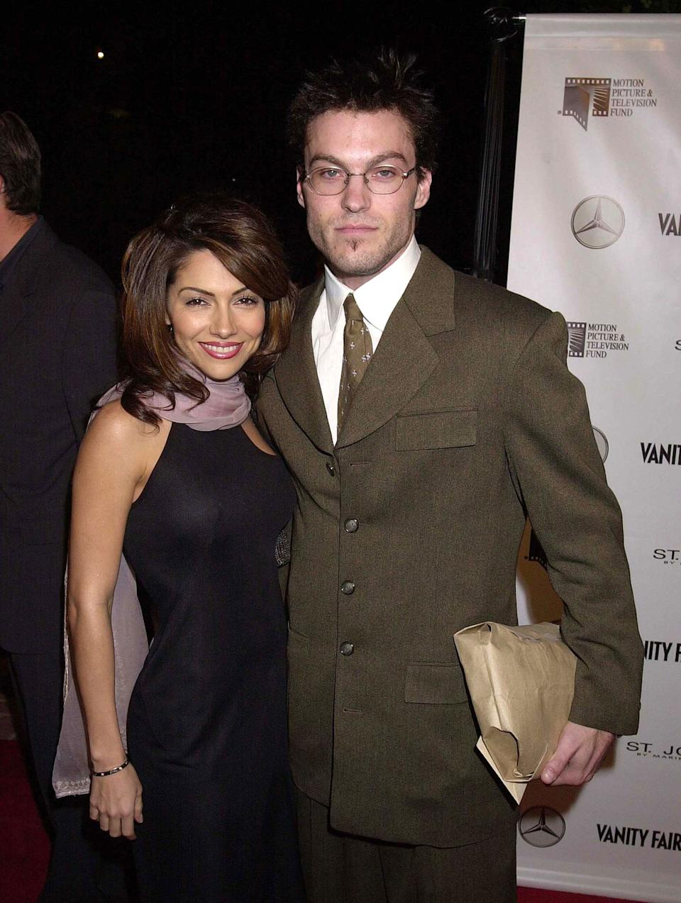 Vanessa Marcil & Brian Austin Green during Kevin Spacey Party to the Residents of The Motion Picture & Television Fund's Retirement Community at Private House in Beverly Hills, California, United States. (Photo by Gregg DeGuire/WireImage)