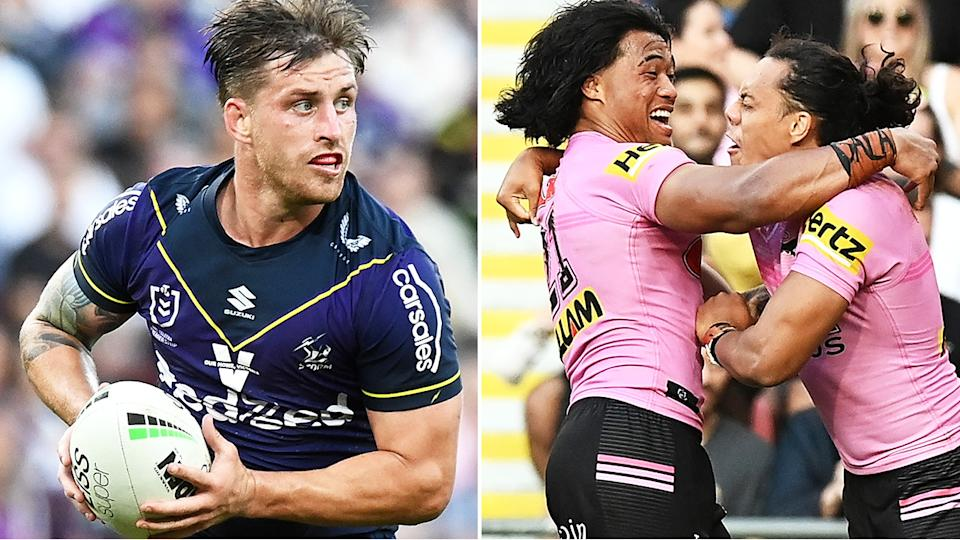 Melbourne's Cameron Munster wasn't penalised for a first-half hit on Jarome Luai which required the Penrish star to take a HIA before returning to the field. Pictures: Getty Images