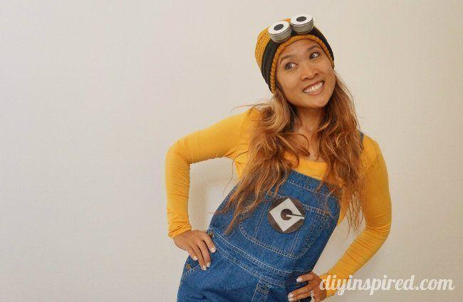 """<p>This Minion costume with homemade googles and a Minion logo is about as simple as it gets. </p><p><strong>Get the tutorial at <a href=""""https://www.diyinspired.com/last-minute-diy-adult-minion-costume/"""" rel=""""nofollow noopener"""" target=""""_blank"""" data-ylk=""""slk:DIY Inspired"""" class=""""link rapid-noclick-resp"""">DIY Inspired</a>. </strong></p><p><strong><a class=""""link rapid-noclick-resp"""" href=""""https://www.amazon.com/Simplicity-Womens-Acrylic-Knitted-1036_Yellow/dp/B009EOY0CW/ref=sr_1_4?tag=syn-yahoo-20&ascsubtag=%5Bartid%7C10050.g.28305850%5Bsrc%7Cyahoo-us"""" rel=""""nofollow noopener"""" target=""""_blank"""" data-ylk=""""slk:SHOP YELLOW BEANIES"""">SHOP YELLOW BEANIES</a><br></strong></p>"""