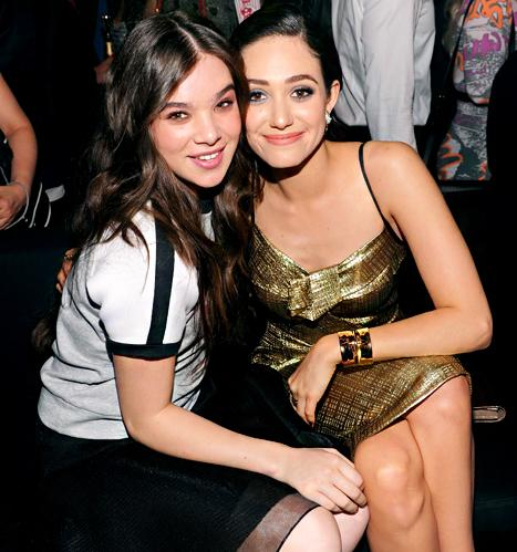Emmy Rossum and Hailee Steinfeld Party At The #DKNY25 Bash In NYC