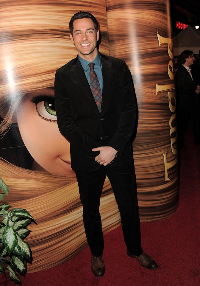 """<a href=""""http://movies.yahoo.com/movie/contributor/1808421073"""">Zachary Levi</a> attends the Los Angeles premiere of <a href=""""http://movies.yahoo.com/movie/1810121160/info"""">Tangled</a> on November 14, 2010."""