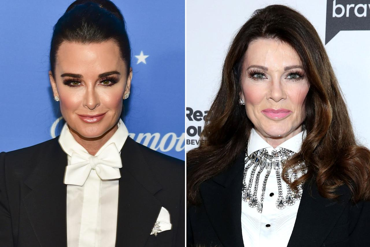 "We all know that there's <a href=""https://people.com/tv/biggest-friendship-fallouts-real-housewives-history/"">no shortage</a> of drama when it comes to the <em>Real Housewives </em><em>of Beverly Hills, </em>but Kyle Richards and Lisa Vanderpump took it off screen and onto Twitter after the sseason 9 reunion.   Kyle <a href=""https://twitter.com/KyleRichards/status/1153860953752113152"">tweeted</a> that she thought Lisa set up meetup at Vanderpump Dogs that set off all of the doggie drama this season. One fan decided to post a drawing of Kyle wearing a Burger King crown and sitting on a toilet with a laptop. The tweet read, ""queen on her throne!""   LVP thought it was hilarious. She <a href=""https://twitter.com/LisaVanderpump/status/1154412304009535489"">tweeted</a>, ""So funny, how do people come up with this?"" Then, she added, ""It's ironic. Now I'm not so hurt I can be more objective, if I wanted to hurt any of them there were so many things going on, lawsuits, bankruptcies, shops failing, shows cancelled, loans in default etc and I never said a word.""  Fan speculate that Vanderpump is talking about Kyle's Beverly Hills boutique, Kyle by Alene Too and her scripted series, <em>American Woman, </em>which was canceled after one season.   LVP <a href=""https://twitter.com/LisaVanderpump/status/1154412820764622848"">continued</a>, ""Me on the other hand oh I am a liar, coward, sniper, bad teeth, awful friend, terrible wine, the list goes on...awful really. Glad I stepped away. Also Pump Rules has been amazing this year."""