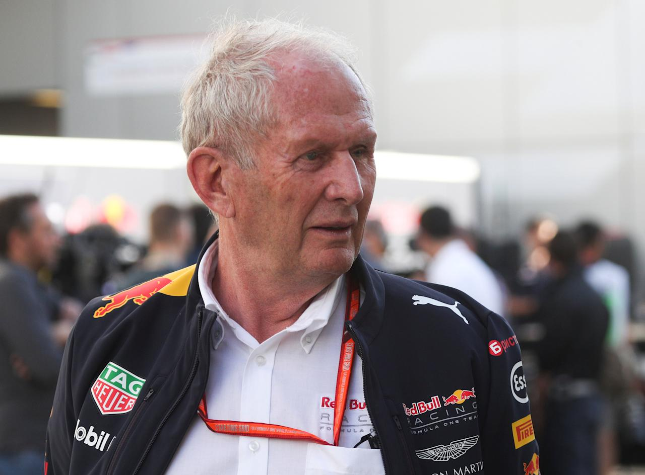 Formula One - F1 - Russian Grand Prix - Sochi, Russia - 28/04/17 - Red Bull team's head of driver development programme Helmut Marko walks in the paddock area after the second practice session. REUTERS/Maxim Shemetov