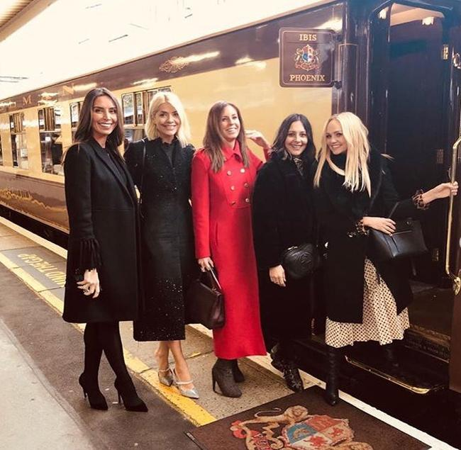 holly enjoys festive day out with girls