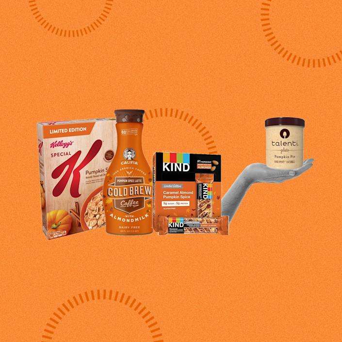 <p>It's (kinda) (almost) fall, and you know what that means. Pumpkin spice ridiculousness, maple mania, and caramel EVERYTHING. Here's a very comprehensive collection of (pretty much) all the fall-flavored things you can eat this fall.</p>