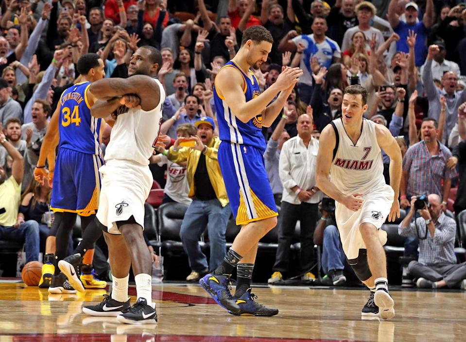 Dion Waiters owns the moment. (Charles Trainor Jr./Miami Herald/TNS/Getty Images)