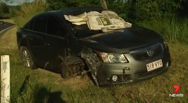 The 28-year-old woman was filmed trying to leave the scene of a serious accident. Photo: 7 News