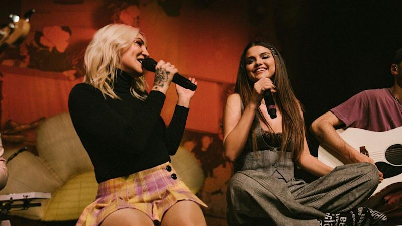 Selena Gomez Gets a Tattoo With Julia Michaels After Giving Surprise Performance at Her Concert