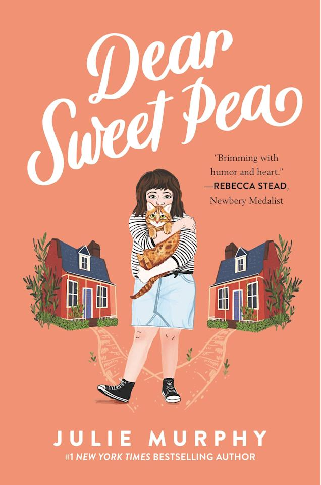 """<p><a href=""""https://www.popsugar.com/buy/Dear-Sweet-Pea-520332?p_name=Dear%20Sweet%20Pea&retailer=amazon.com&pid=520332&price=12&evar1=moms%3Aus&evar9=46920460&evar98=https%3A%2F%2Fwww.popsugar.com%2Fphoto-gallery%2F46920460%2Fimage%2F46920474%2FDear-Sweet-Pea&list1=gifts%2Camazon%2Cbooks%2Cstocking%20stuffers%2Cgift%20guide%2Cgifts%20under%20%2425%2Cgifts%20for%20kids%2Ckid%20shopping%2Ckid%20books%2Cgifts%20for%20toddlers%2Cgifts%20for%20teens%2Cbest%20of%202019&prop13=api&pdata=1"""" rel=""""nofollow"""" data-shoppable-link=""""1"""" target=""""_blank"""" class=""""ga-track"""" data-ga-category=""""Related"""" data-ga-label=""""https://www.amazon.com/gp/product/0062473077/"""" data-ga-action=""""In-Line Links"""">Dear Sweet Pea</a> ($12) by Julie Murphy</p> <p><b>Amazon's Description:</b> """"Dividing her time between two homes is not easy. And it doesn't help that at school, Sweet Pea is now sitting right next to her ex–best friend, Kiera, a daily reminder of the friendship that once was. Things might be unbearable if Sweet Pea didn't have Oscar - her new best friend - and her fifteen-pound cat, Cheese. Then one day Flora leaves for a trip and asks Sweet Pea to forward her the letters for the column. And Sweet Pea happens to recognize the handwriting on one of the envelopes. What she decides to do with that letter sets off a chain of events that will forever change the lives of Sweet Pea DiMarco, her family, and many of the readers of 'Miss Flora Mae I?'""""</p> <p><b>Ages It's Best Suited For:</b> 8-12</p>"""