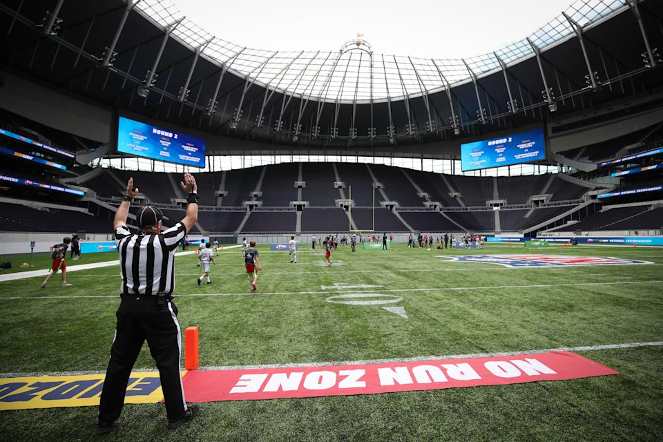 General view of the NFL Flag Championships at The Tottenham Hotspur Stadium, London. (Photo by Chris Radburn/PA Images via Getty Images)