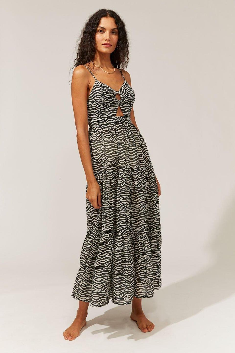 """ICYMI, Solid & Striped makes wedding-worthy dresses now, and this zebra-print maxi dress is high on our list of must-haves. $248, Solid & Striped. <a href=""""https://www.solidandstriped.com/collections/relaunch-dresses/products/the-esme-dress-printed-linen-gauze-zebra-print"""" rel=""""nofollow noopener"""" target=""""_blank"""" data-ylk=""""slk:Get it now!"""" class=""""link rapid-noclick-resp"""">Get it now!</a>"""