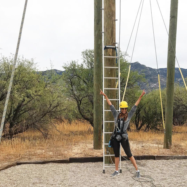 "<p>""If my #ANTM models can climb stuff and pose fiercely for a photo, I better climb this thingy and NOT complain!"" Banks shared in one of the many pics she snapped at the Miraval Resort and Spa. (Photo: <a href=""https://www.instagram.com/p/BbuqbImlvIk/?taken-by=tyrabanks"" rel=""nofollow noopener"" target=""_blank"" data-ylk=""slk:Tyra Banks via Instagram"" class=""link rapid-noclick-resp"">Tyra Banks via Instagram</a>) </p>"