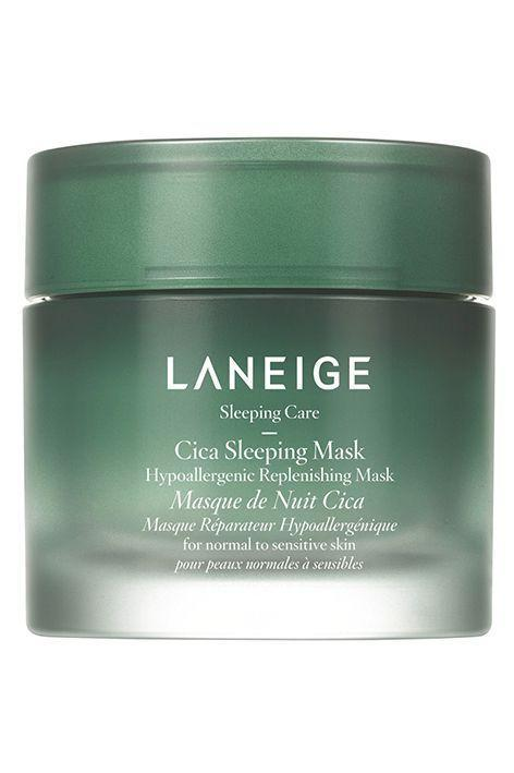 "<p><strong>LANEIGE</strong></p><p>sephora.com</p><p><strong>$34.00</strong></p><p><a href=""https://go.redirectingat.com?id=74968X1596630&url=https%3A%2F%2Fwww.sephora.com%2Fproduct%2Flaneige-hypoallergenic-cica-sleeping-mask-P454313&sref=https%3A%2F%2Fwww.oprahmag.com%2Fbeauty%2Fskin-makeup%2Fg33324897%2Fbest-korean-face-masks%2F"" rel=""nofollow noopener"" target=""_blank"" data-ylk=""slk:Shop Now"" class=""link rapid-noclick-resp"">Shop Now</a></p><p>Formulated with fermented forest yeast extract, Laneige's Cica Sleeping Mask has 40,000 likes on Sephora and people are raving about the results. ""This is now one of my holy grail products,"" shared one reviewer. ""It soothes redness in minutes, feels weightless, and provides lasting moisture.""</p>"