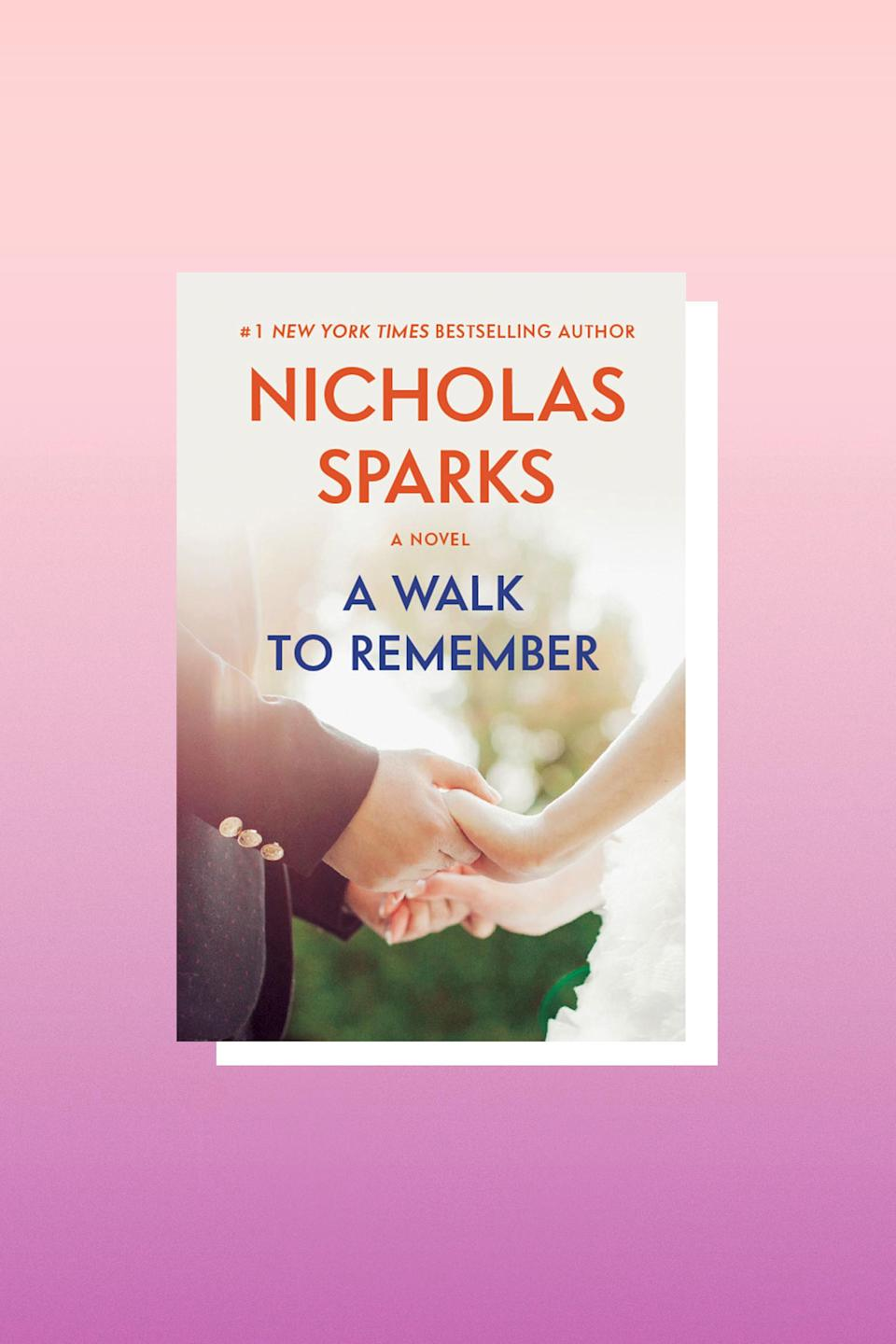 """You might roll your eyes at Nicholas Sparks, but sometimes you need a hokey, melodramatic love story to remind you that there's hope in the world. This one is heavy on the sap, and of course has an iconic film adaptation that's worth checking out as well.<br><br>""""There are moments when I wish I could roll back the clock and take all the sadness away, but I have the feeling that if I did, the joy would be gone as well."""" – <em>A Walk To Remember</em>"""