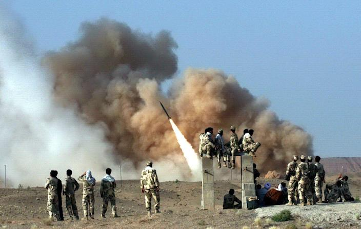 A Zelzal ballistic missile is launched during the second day of military exercises by Iran's elite Revolutionary Guard at an undisclosed location in Iran in 2011. (Photo: EPA-EFE/Shutterstock)