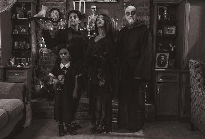 The Deli family dressed as the Adams family on TODAY (Courtesy of the Deli family)
