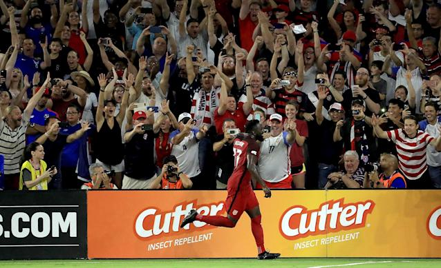 The crowd and stadium in Orlando were raucous all night, and the U.S. gave them plenty to cheer about. (Getty)