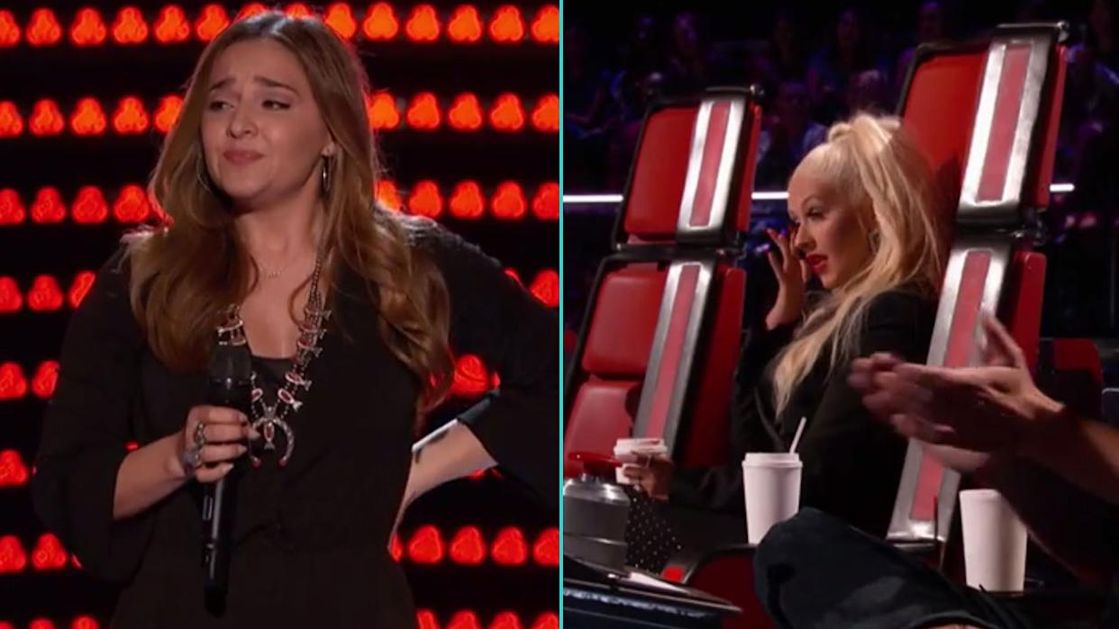 'The Voice': Christina Aguilera Tears Up After 'Curly Sue' Star's Flawless Audition