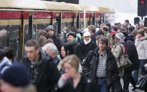 <span>The tickets would also be valid on the S-Bahn trains that link suburbs to German city centres</span> <span>Credit: Andreas Rentz/Getty Images </span>