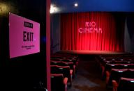 A general view is seen ahead of the opening for a screening at the Rio Cinema Dalston, amidst the spread of the coronavirus disease (COVID-19) pandemic, in London, Britain