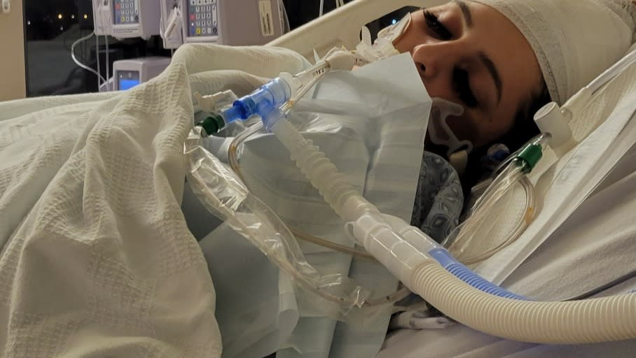 The 18-year-old in intensive care.