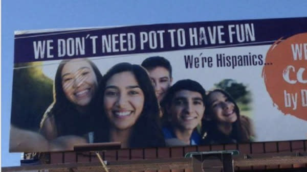Baffling Anti-Pot Billboard Aimed At Latinos To Come Down After Outrage