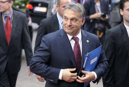 Hungary's PM Orban arrives at an informal summit of European Union leaders in Brussels