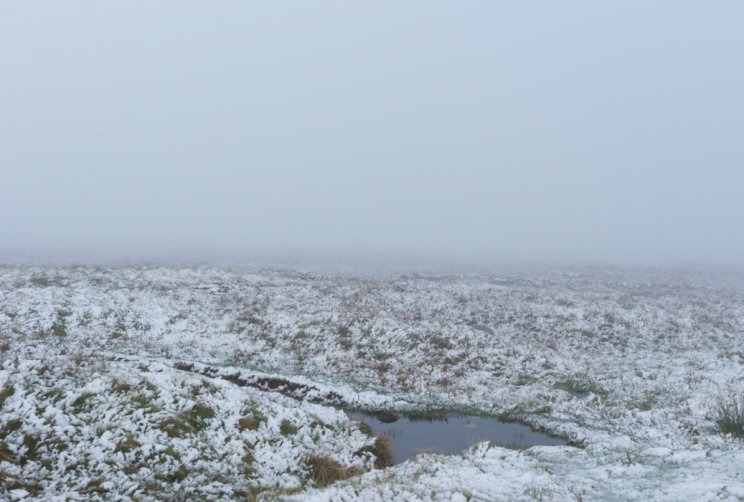 There was snow last month at Great Dun Fell in Cumbria (Picture: Rex)