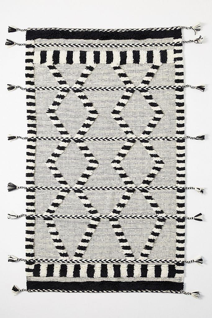 Criss-Cross Flat-Woven Rug (Anthropologie)