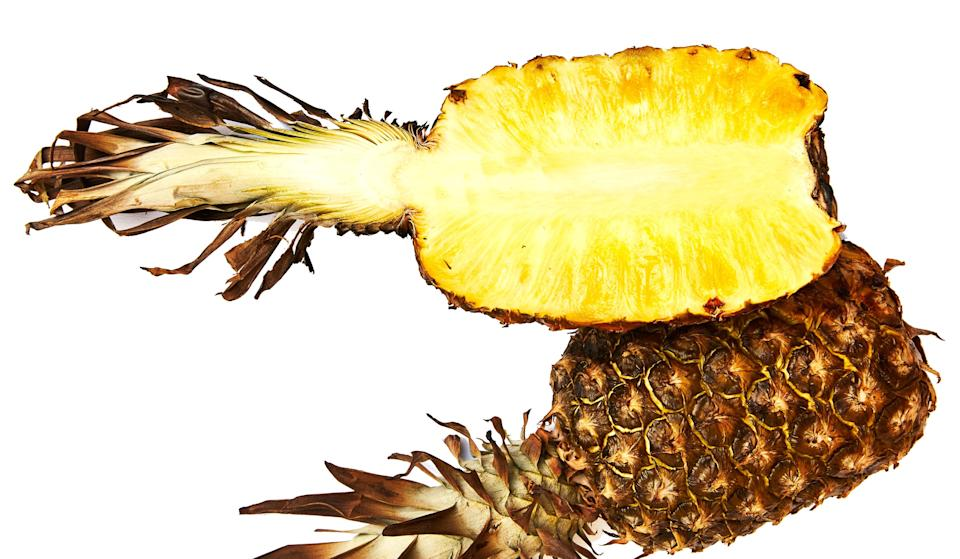 """The smoky and sweet pineapple flesh can be scooped out and added to salsas, spooned over shortcakes or ice cream, or served alongside grilled pork, chicken, or fish. This recipe is from <a href=""""http://www.bonappetit.com/story/lord-stanley-san-francisco?mbid=synd_yahoo_rss"""" rel=""""nofollow noopener"""" target=""""_blank"""" data-ylk=""""slk:Lord Stanley"""" class=""""link rapid-noclick-resp"""">Lord Stanley</a> in San Francisco, CA. <a href=""""https://www.bonappetit.com/recipe/grill-roasted-pineapple?mbid=synd_yahoo_rss"""" rel=""""nofollow noopener"""" target=""""_blank"""" data-ylk=""""slk:See recipe."""" class=""""link rapid-noclick-resp"""">See recipe.</a>"""