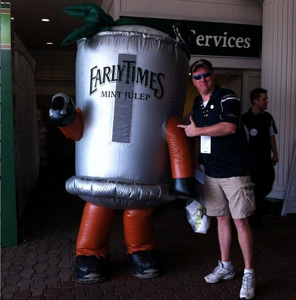 Mint Julep mascot at the 138th Kentucky Derby horse race at Churchill Downs Saturday, May 5, 2012, in Louisville, Ky.