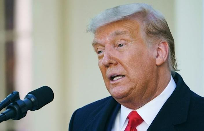US President Donald Trump didn't discuss the elephant in the room -- his refusal to concede defeat