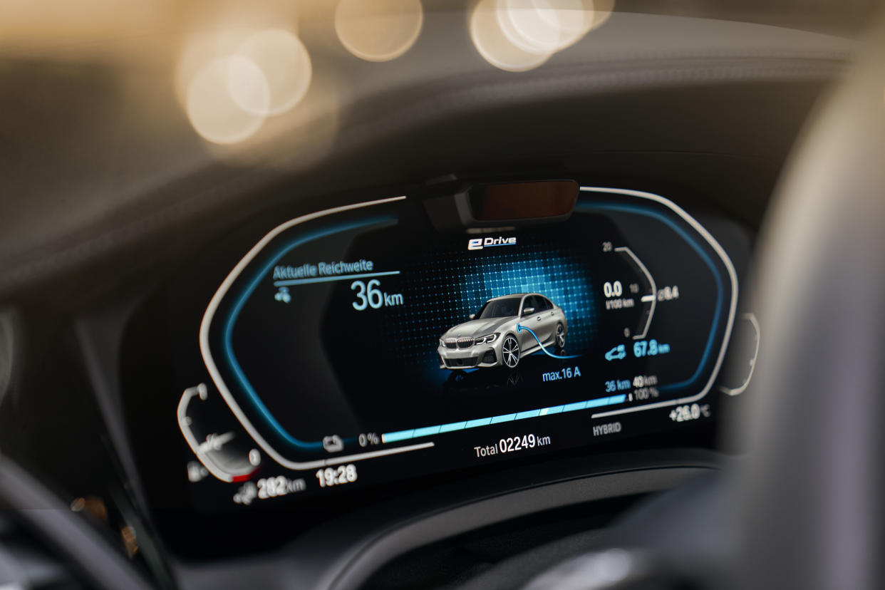 Electric systems are displayed on the main readout
