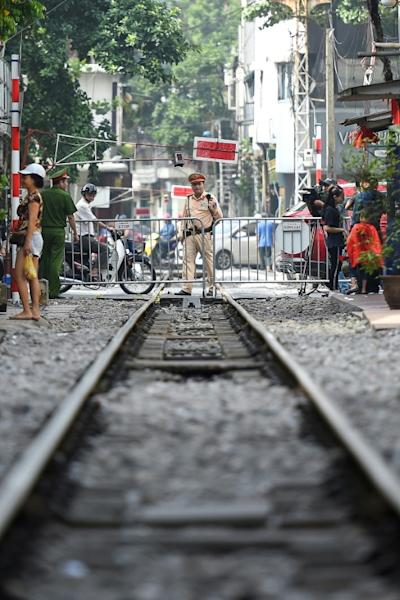 Built by former colonial rulers, the railway once shipped goods and people across France's former Indochina colony and remains in use today by communist Vietnam's state-run railway company (AFP Photo/Nhac NGUYEN)