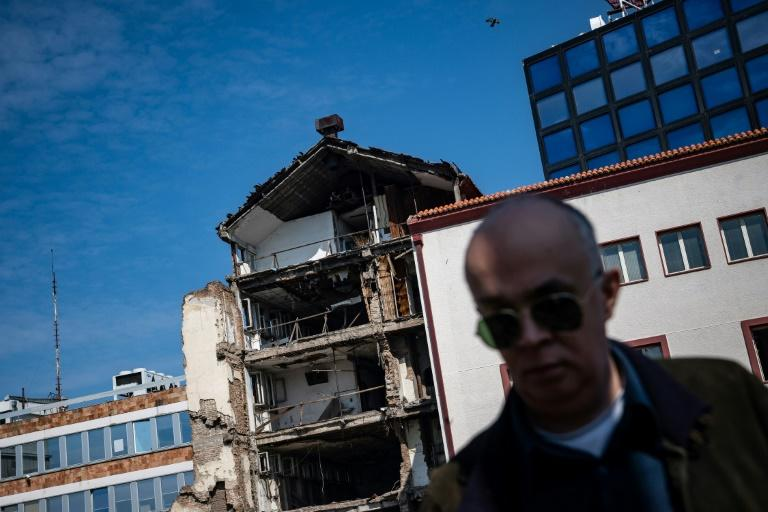Former Serbian radio and television station destroyed in the bombing