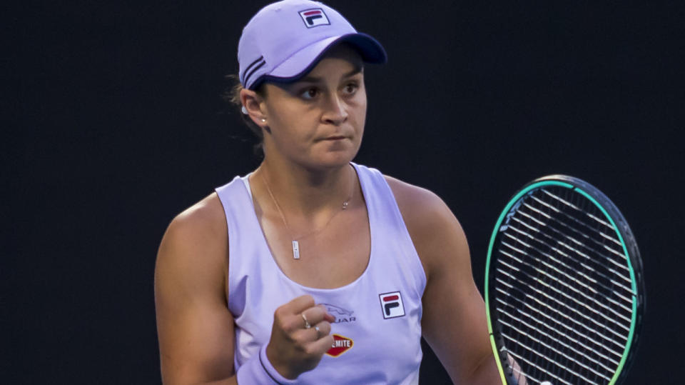 Ash Barty is preparing to face fellow Australian star Daria Gavrilova in the second round of the Australian Open. (Photo by Jason Heidrich/Icon Sportswire via Getty Images)