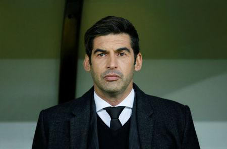 Soccer Football - Champions League Round of 16 First Leg - Shakhtar Donetsk vs AS Roma - Metalist Stadium, Kharkiv, Ukraine - February 21, 2018 Shakhtar Donetsk coach Paulo Fonseca before the match REUTERS/Gleb Garanich